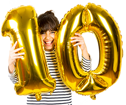 250px Girl With 10 Balloon shutterstock_772925686