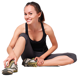 250px woman in workout clothes stretching shutterstock_55338202